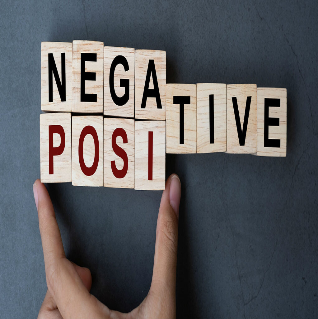 turn negative into postive